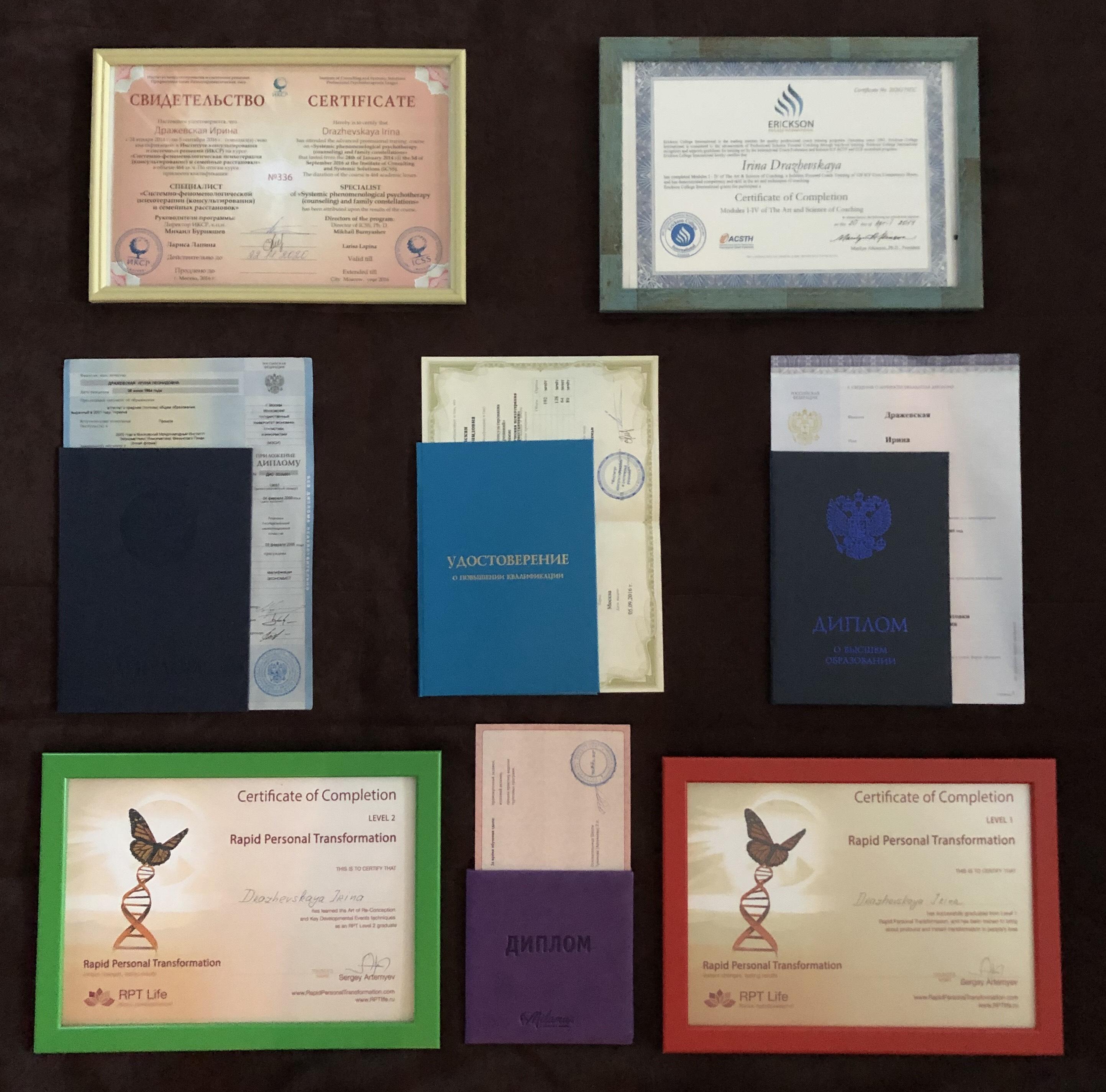 Дипломы Дражевская